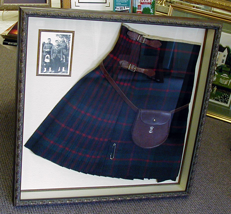 A family kilt captured in time with a picture of the family