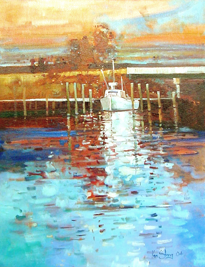 Willis Wharf Fisherman by Ken Strong
