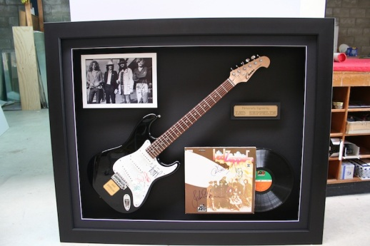 Framed memorabilla for a big fan!