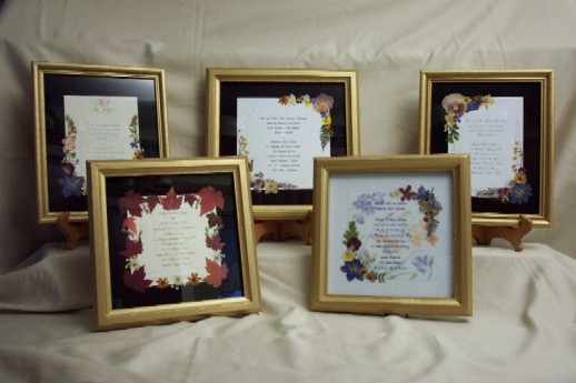 There can be sooo many options to choose from in regards to framing invitations.