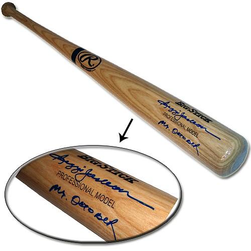 Reggie Jackson Autographed Bat