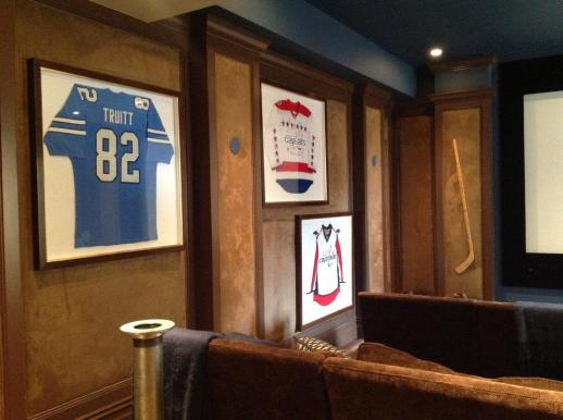 These framed jerseys look professional and classic!