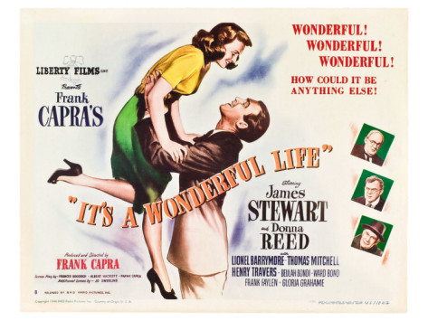 "The Movie post for ""It's A Wonderful Life"" from 1946 in giclcee"