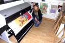 Printing glicee in the workshop!