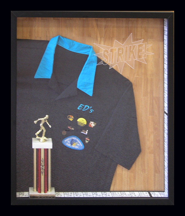 Bowling Shirt Shadow Box by Broadway Galleries