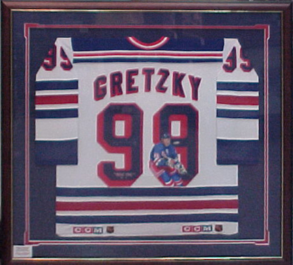 Framed Gretzky Jersey by Broadway Galleries