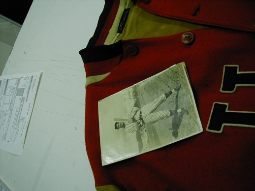 Take a look at the prep work involved in framing a sports jacket!