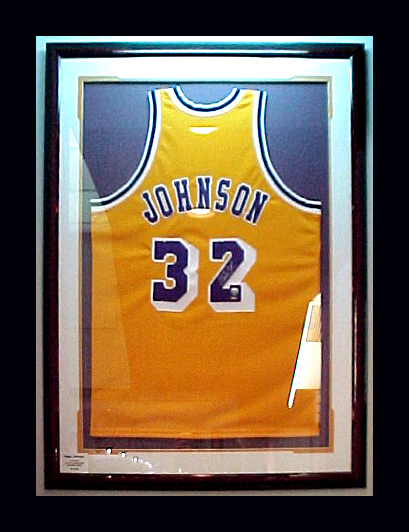 Johnson Jersey framed compliments of Broadway Galleries